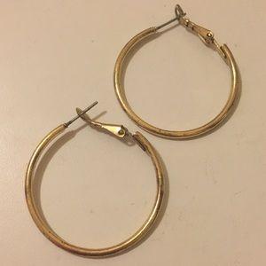 Gold Hoop Earrings (3cm diameter)
